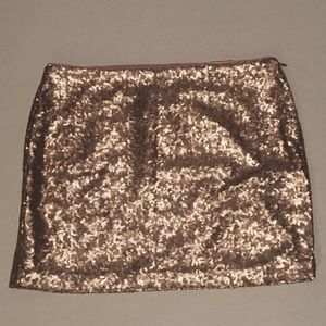NWT Gap Gold Sequin Skirt Size 6
